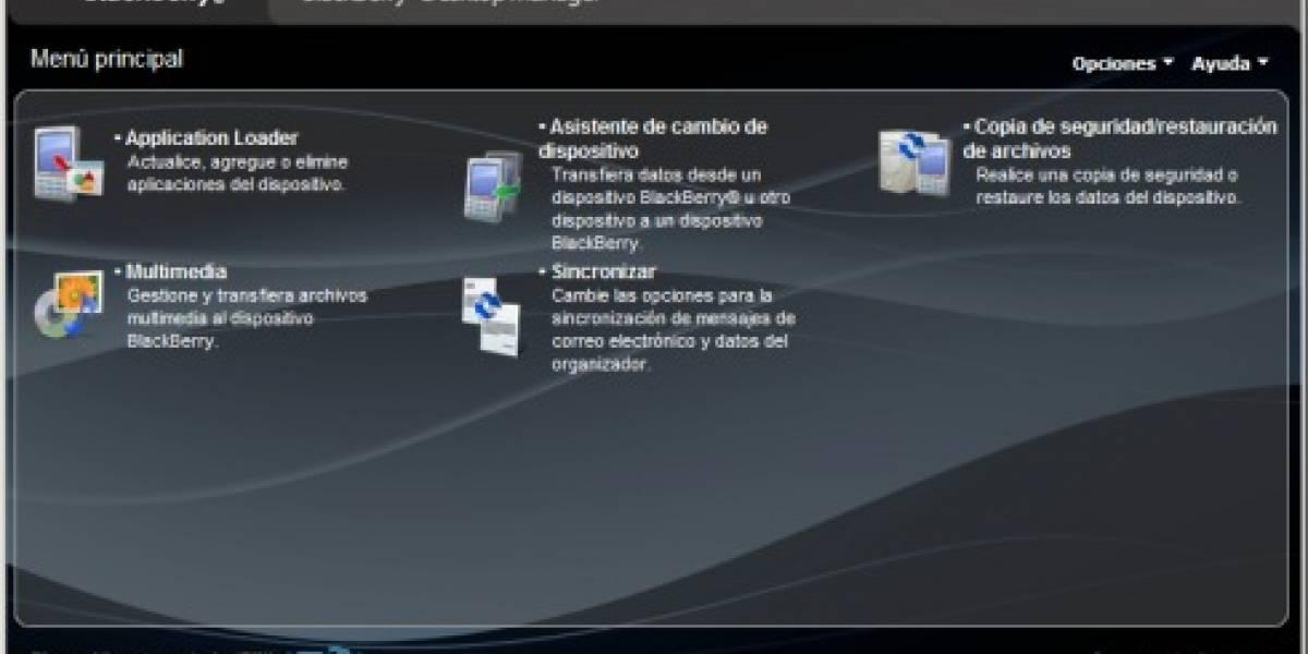 Actualización del BlackBerry Desktop Manager