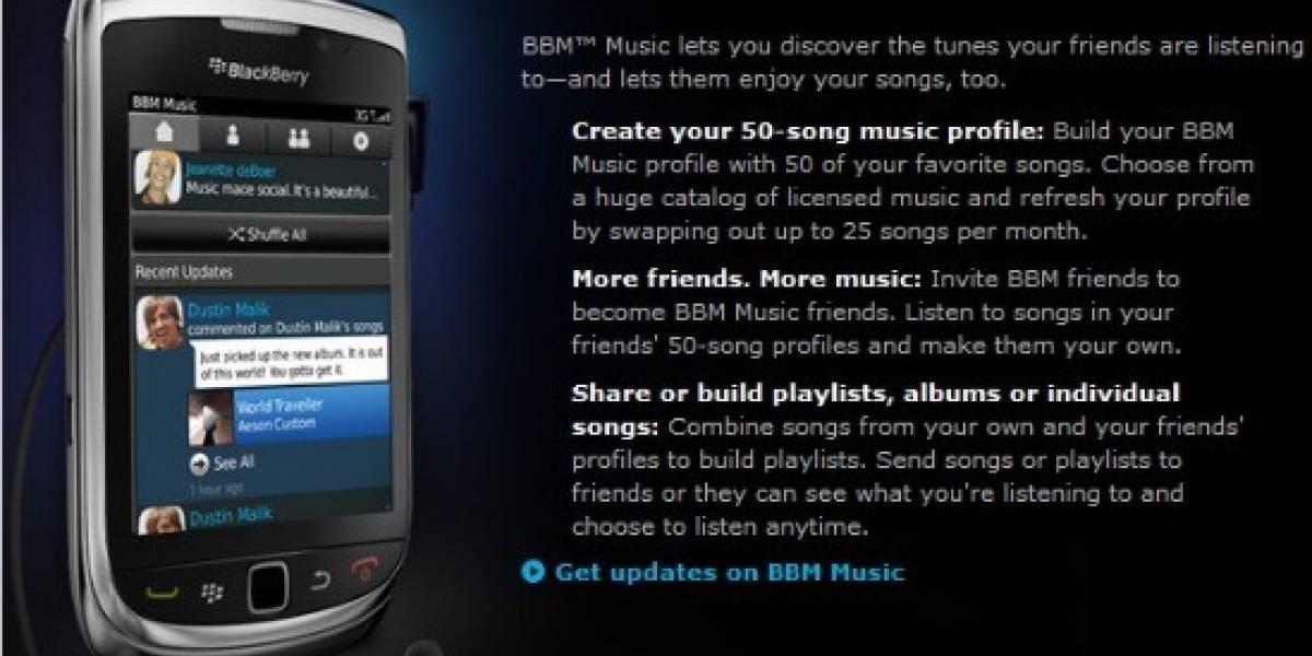 Ya hay tarifas oficiales para BBM Music