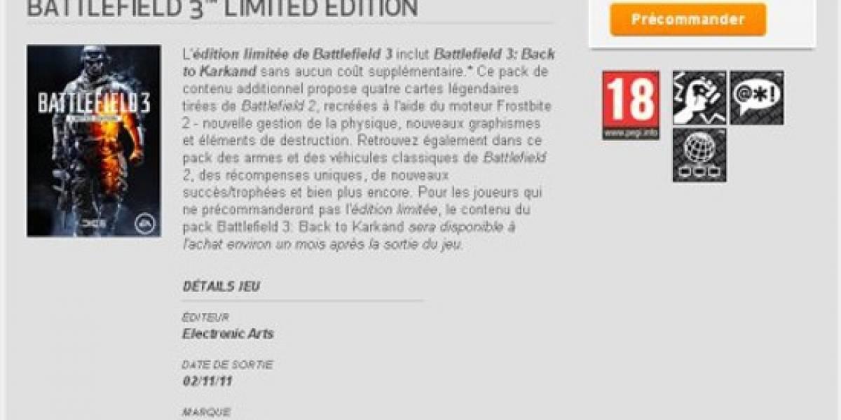 EA Download Manager le pone fecha de salida a Battlefield 3