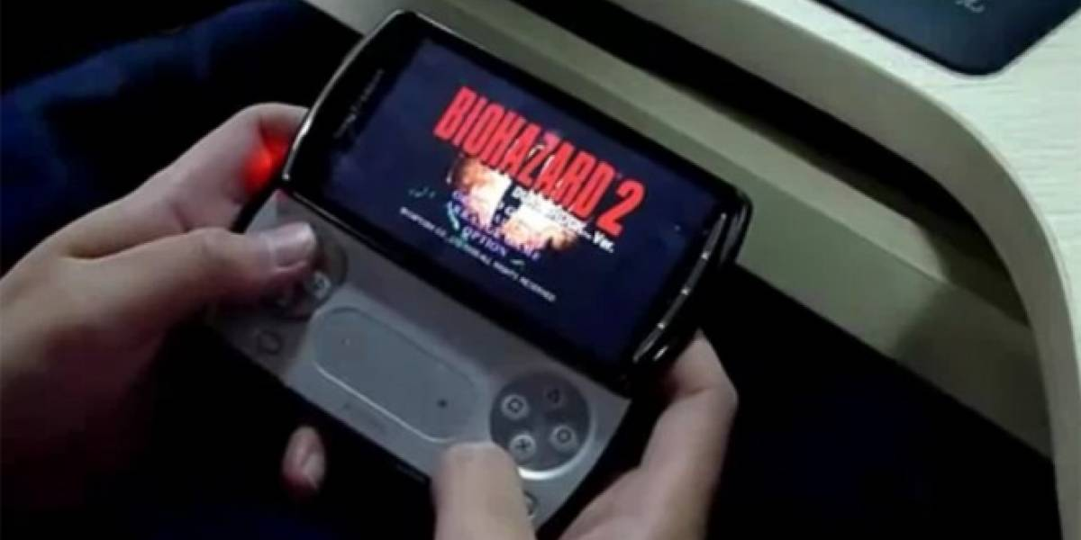 PSP Phone en acción mostrando Resident Evil 2