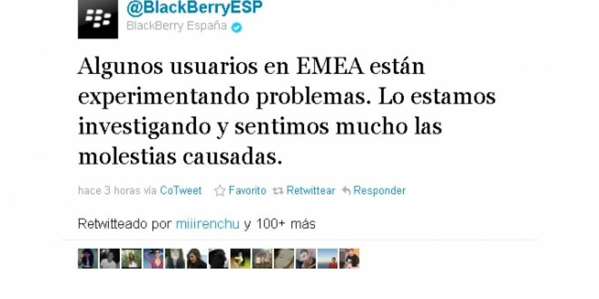 Servicio BIS de BlackBerry con problemas en muchos países (Actualizada)