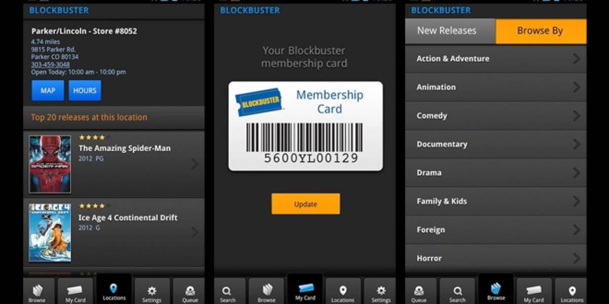 Blockbuster lanza aplicación para Android <del>(¿retrofuturismo?)</del>