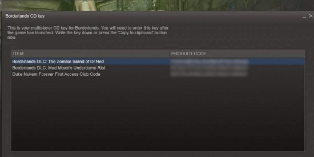 Demo de Duke Nukem Forever para todos los que compraron Borderlands en Steam