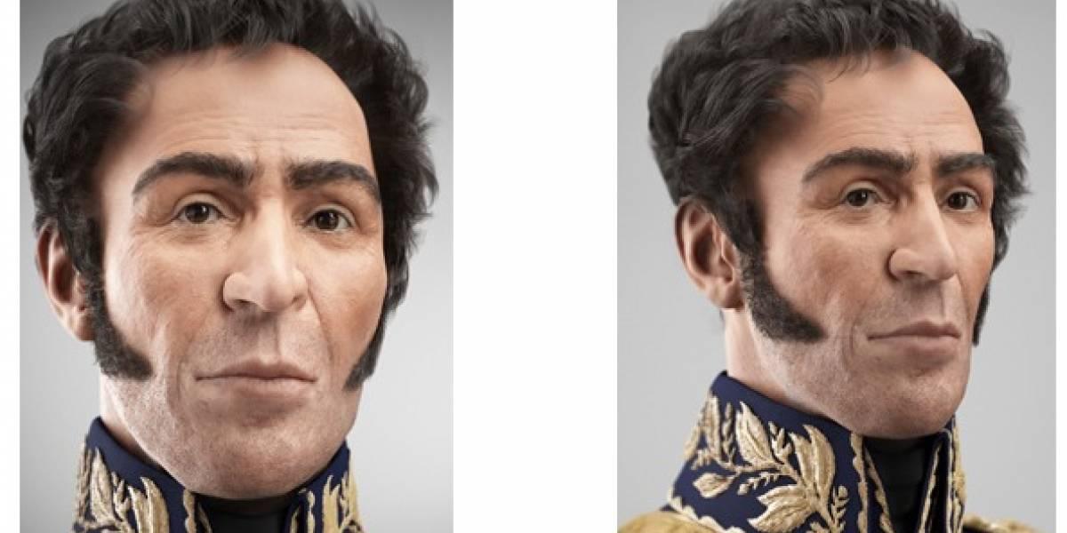Reconstruyeron en forma digital el verdadero rostro de Simón Bolívar