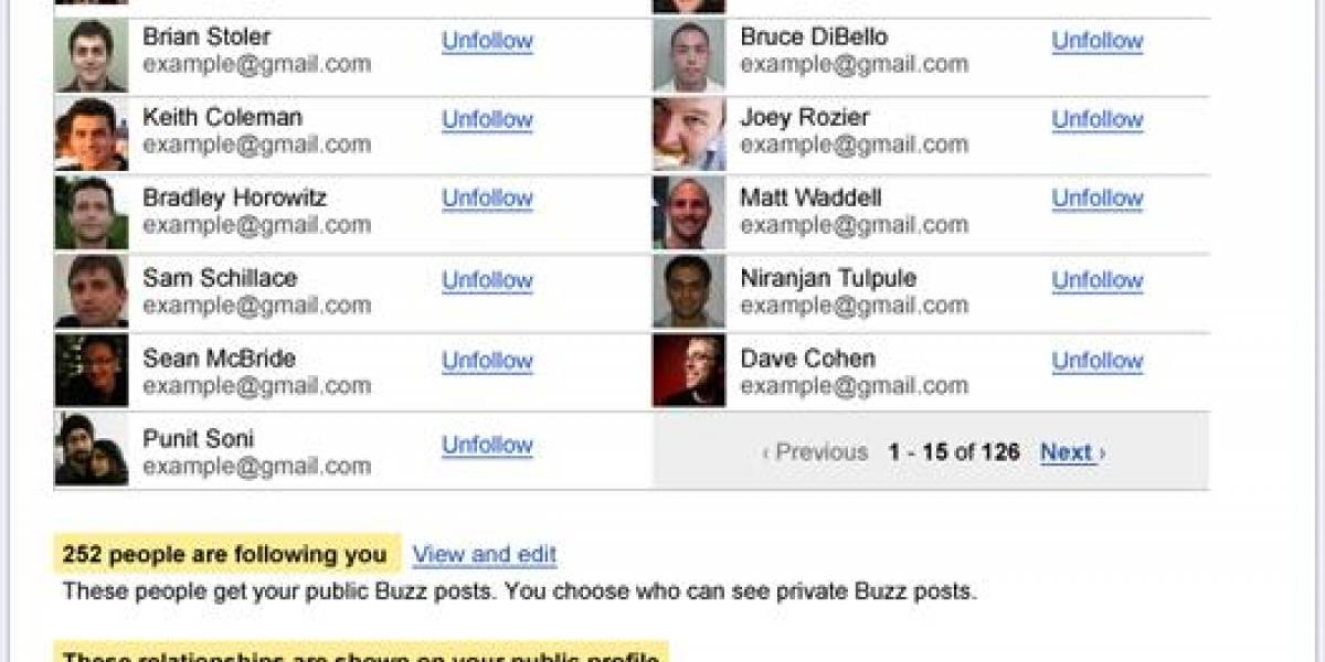 Google Buzz actualiza configuración de privacidad de los usuarios
