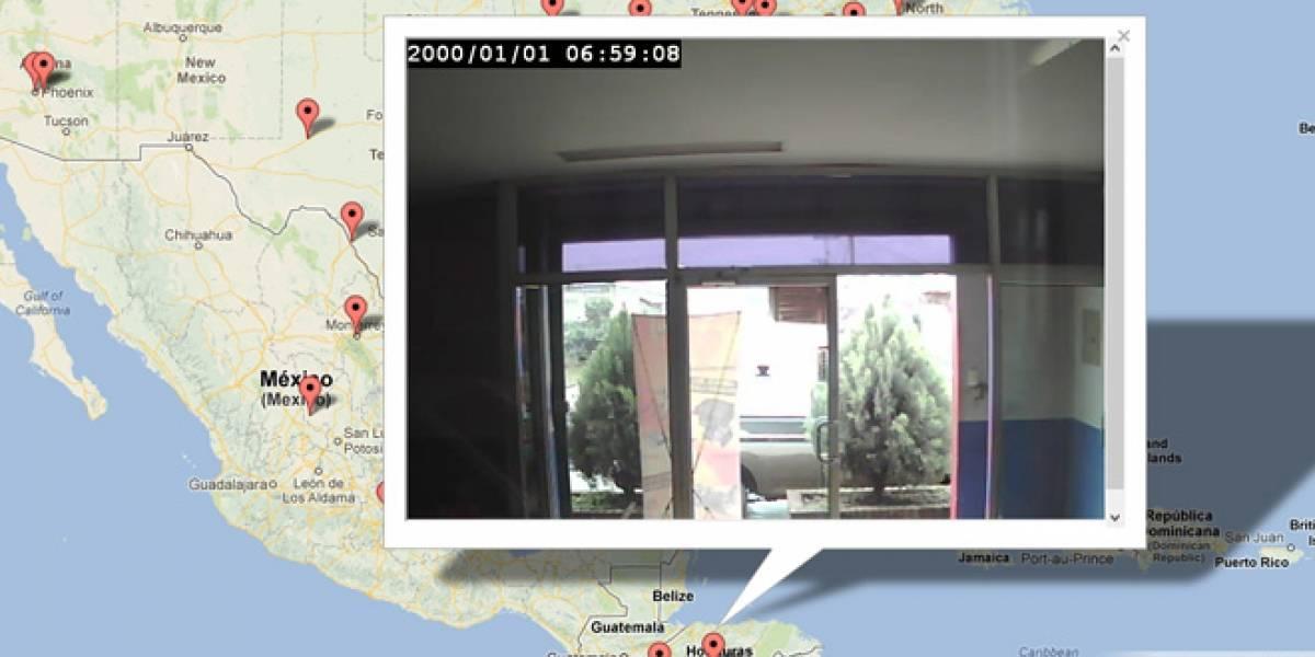 Mapa muestra streaming en vivo de las cámaras de seguridad TRENDnet