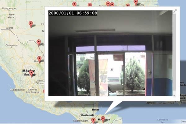 Mapa muestra streaming en vivo de las cámaras de seguridad