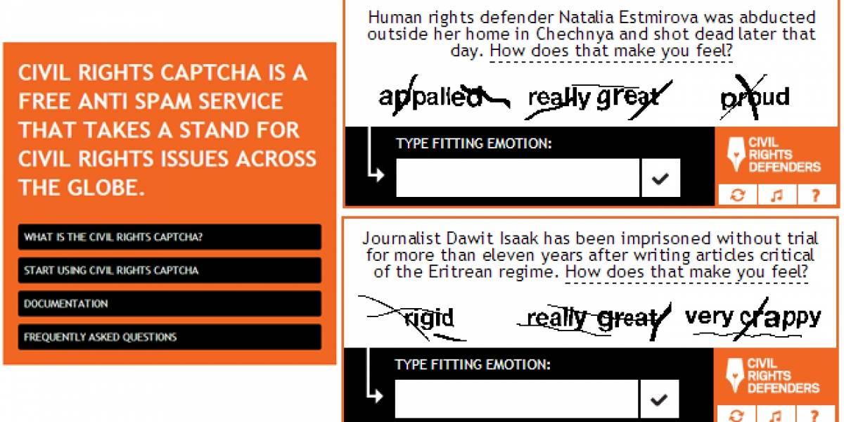 Captcha filtrará bots (y trolls) con preguntas acerca de violación a los derechos humanos
