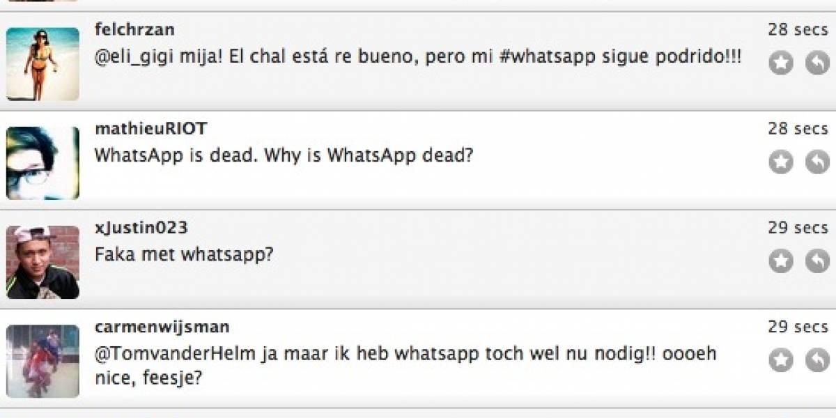 Colapso: WhatsApp anda por los suelos