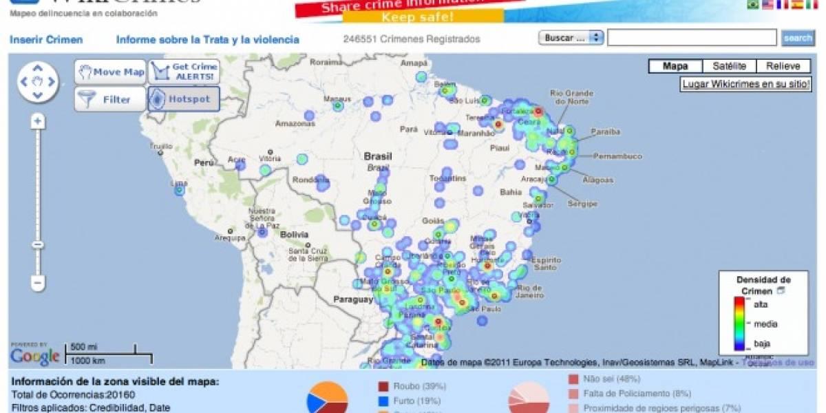 Brasil: Aplicación tipo Foursquare registra e informa crímenes en tiempo real