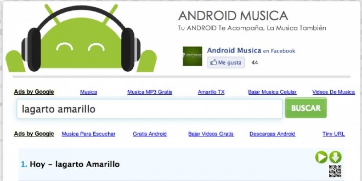Android Música: El robotito le canta a todos en la Red
