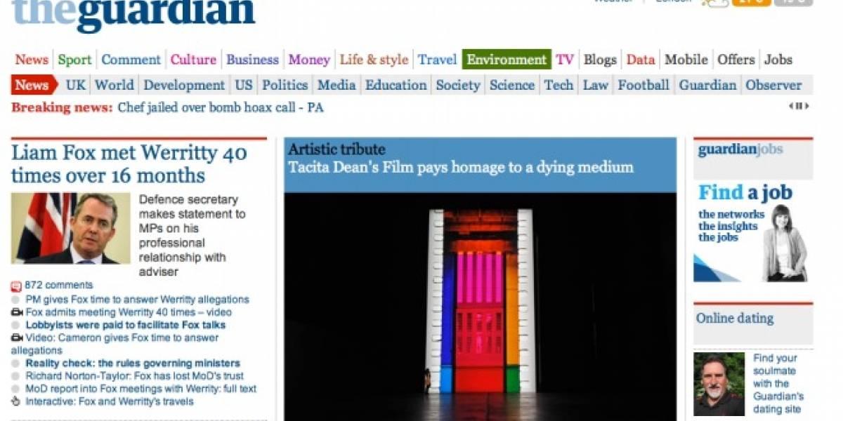 Conoce la nueva app de The Guardian para iPad