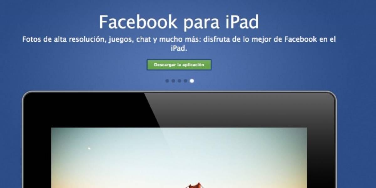 Facebook lanza su aplicación para iPad... ¡Por fin!