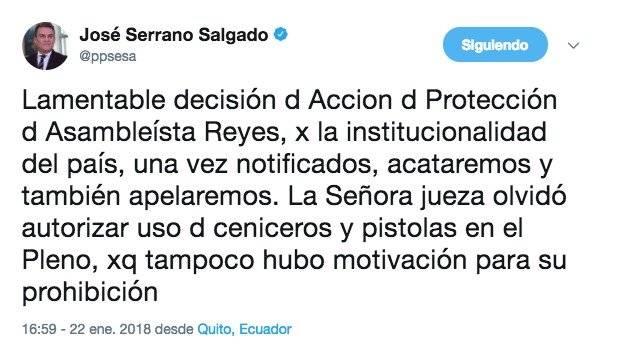 Twitter José Serrano Twitter