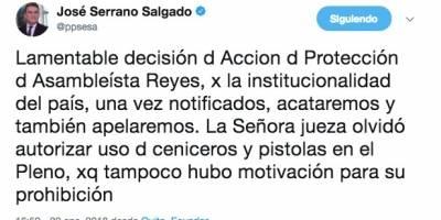 Twitter José Serrano