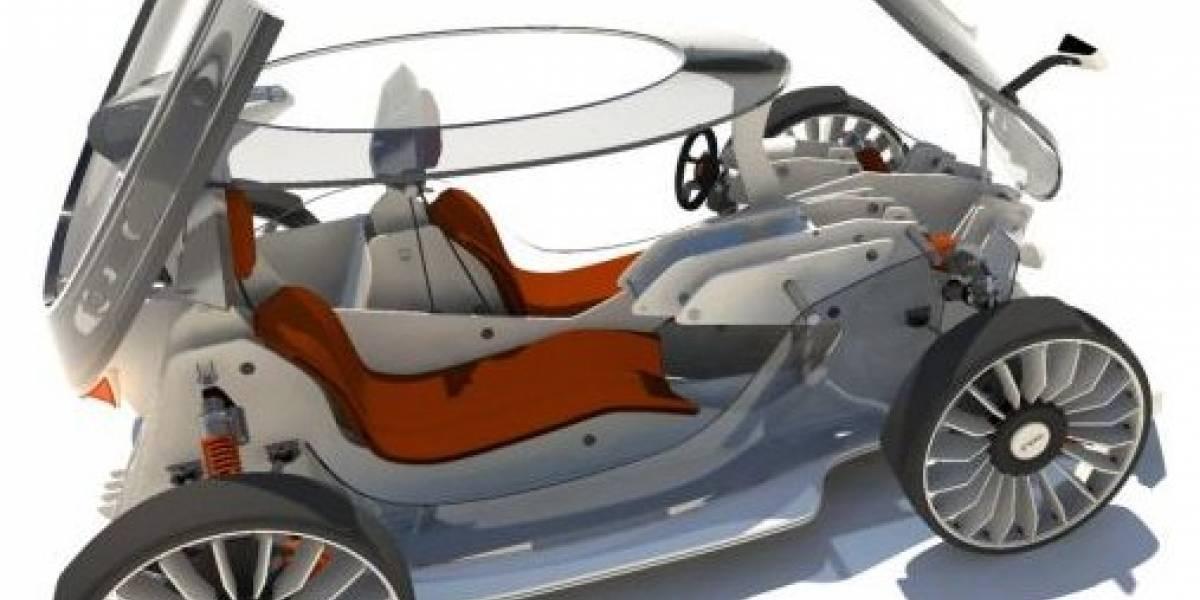 Concepto: automóvil eléctrico para armar en casa