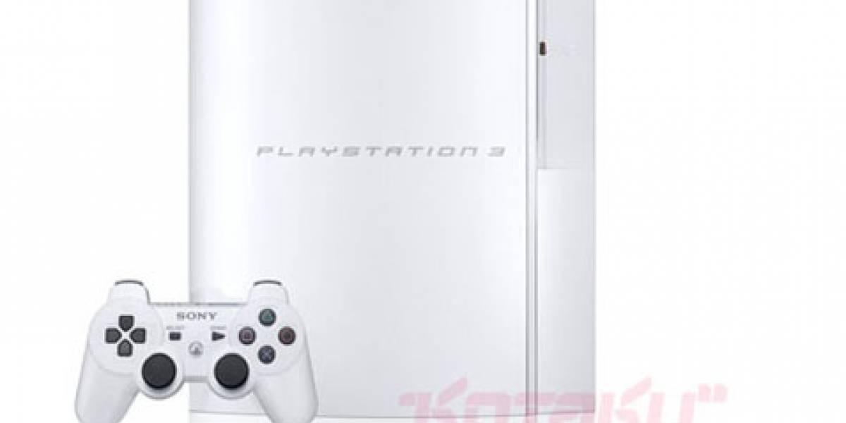 La novia de blanco, PS3 40GB Blanca en Japón