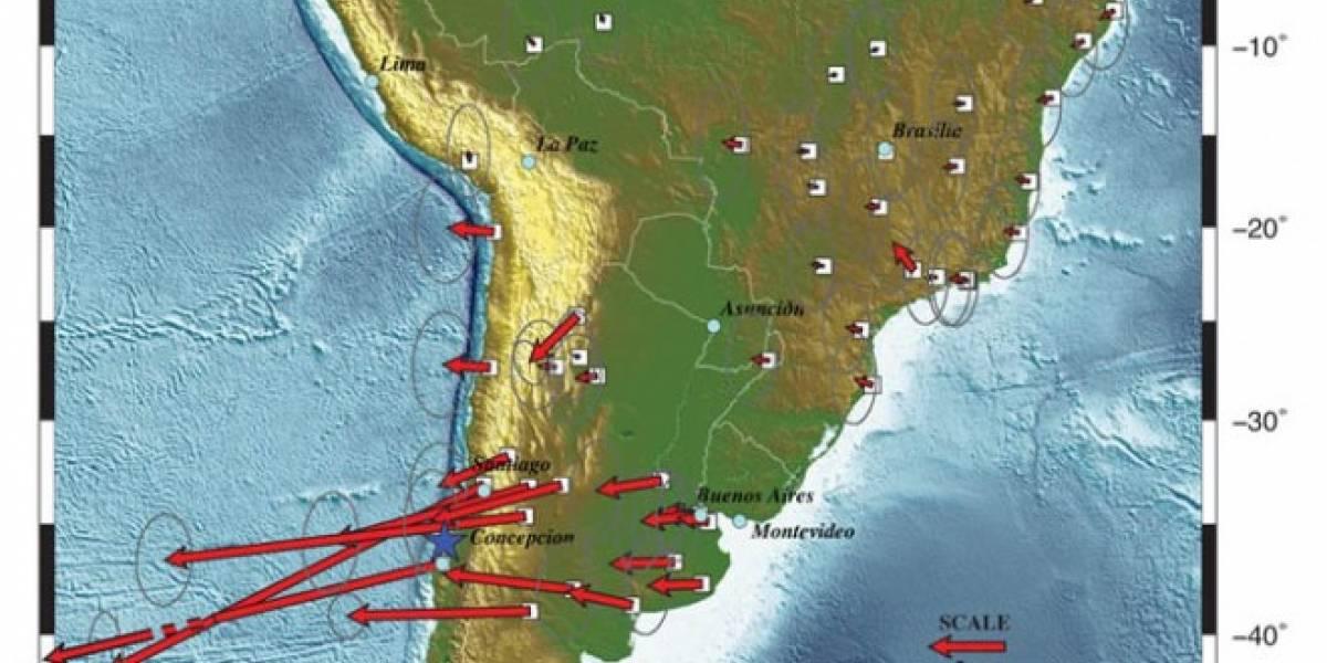 Concepción, Santiago y hasta Buenos Aires se desplazaron al oeste por terremoto