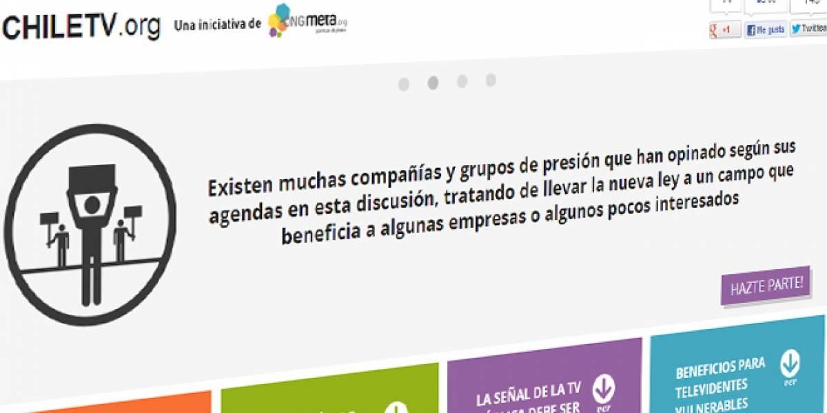 Chile: Lanzan campaña para informar y protestar por el proyecto de ley de TV Digital