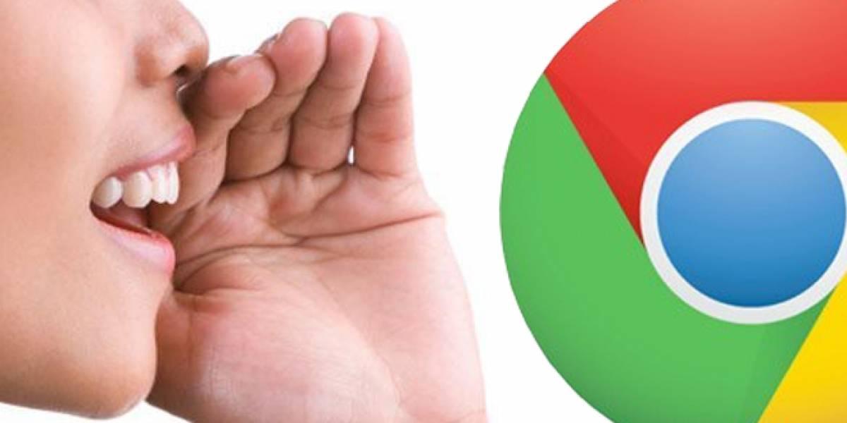 Google lanza Chrome 25 versión beta, incluye reconocimiento de voz