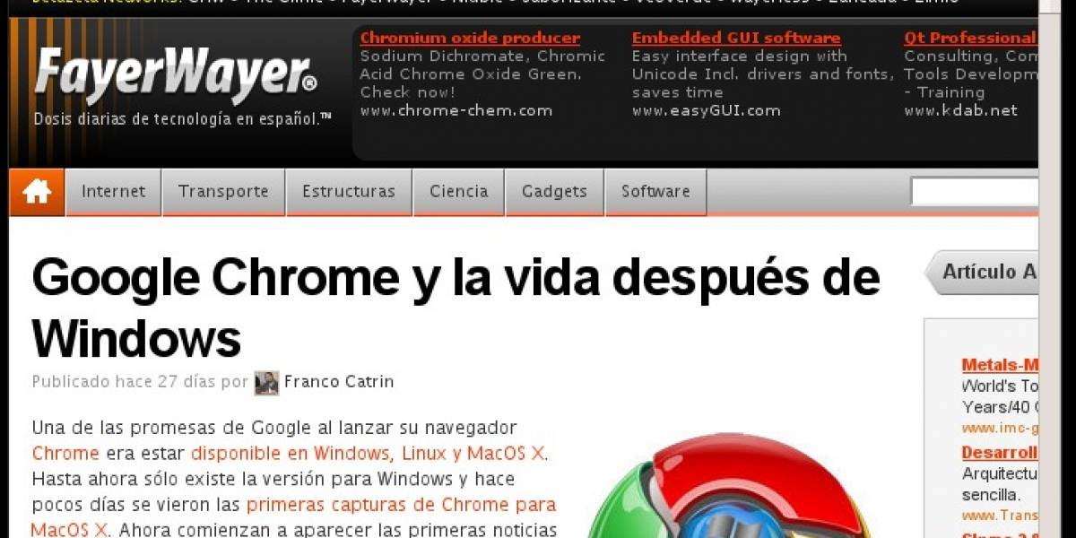 Google Chrome para Linux viene en camino