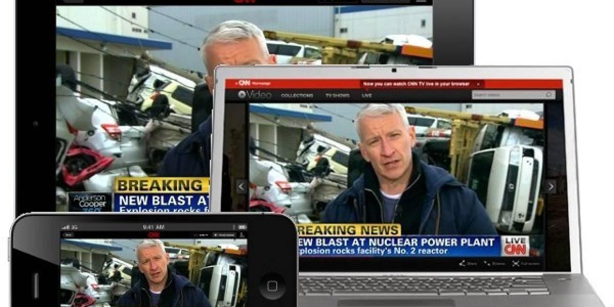 CNN transmite noticias 24 horas sin parar en su app de iOS