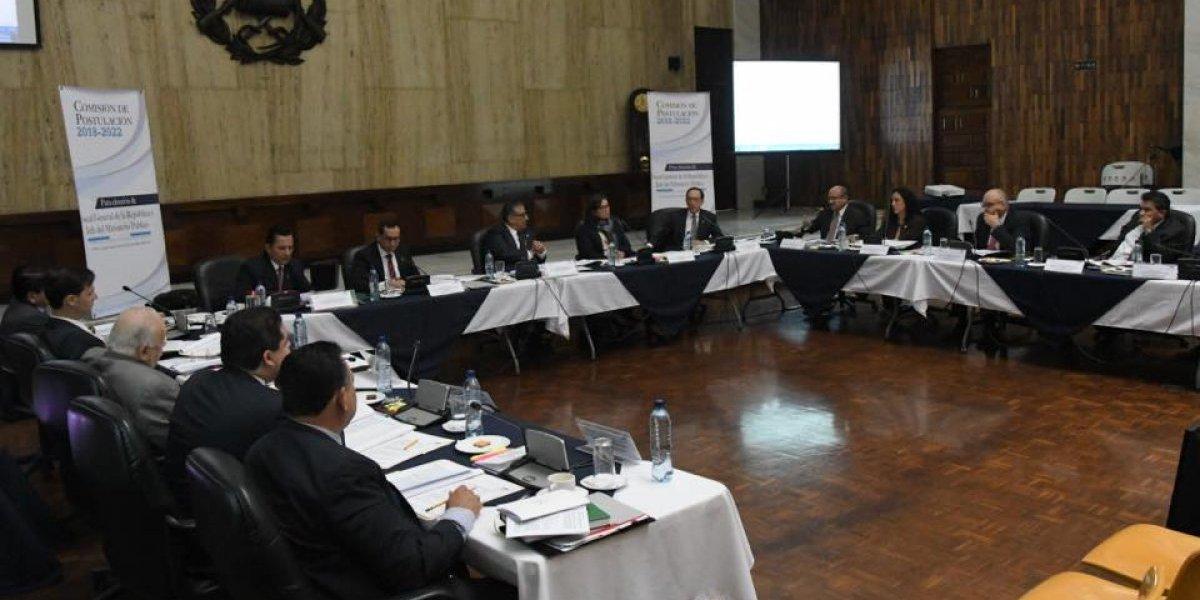 Comisión de Postulación se preparan para evaluar a candidatos a fiscal del MP