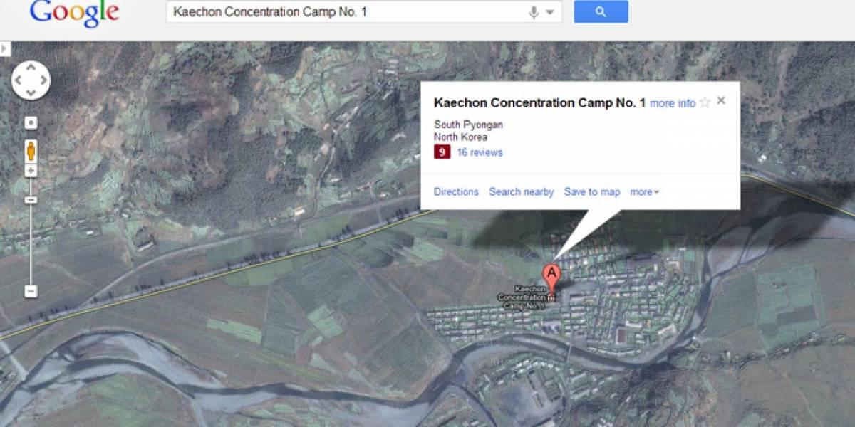 Google Maps denuncia los campos de concentración en Corea del Norte