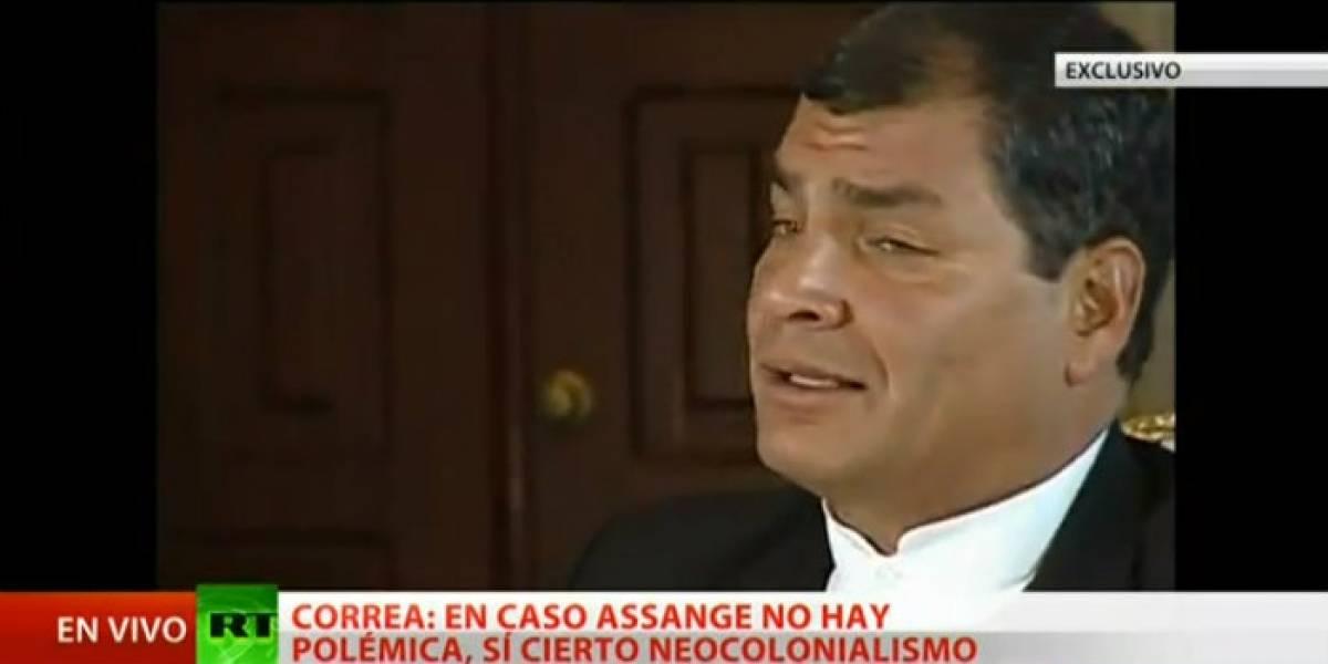 """Correa: La solución a la situación de Julian Assange """"está en manos de Europa"""""""