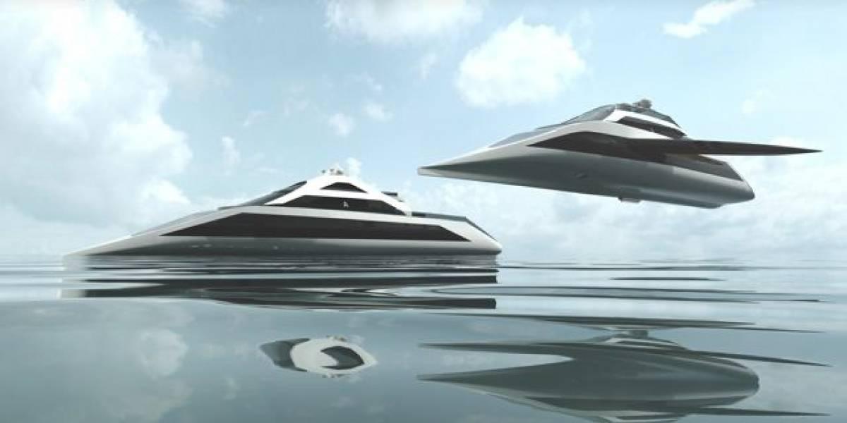 Diseñador presenta conceptos de yates que vuelan, sumergen y amplian solos