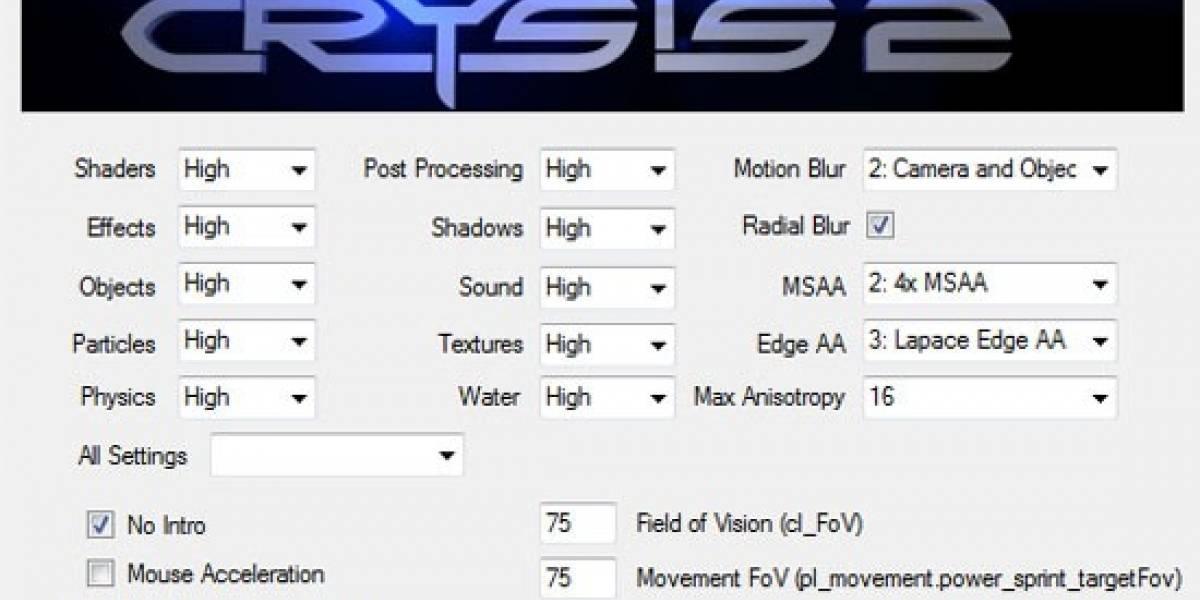 Crysis 2 ya cuenta con opciones gráficas avanzadas
