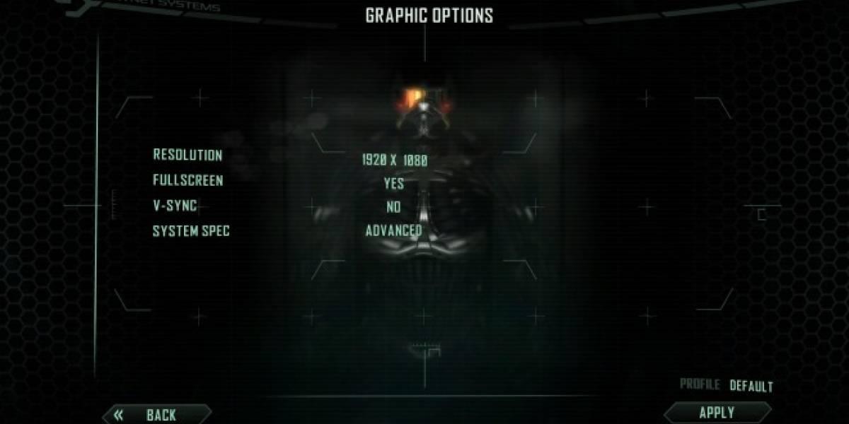 Crysis 2 en PC con pocas opciones de configuración gráfica y sin DirectX 11 de lanzamiento