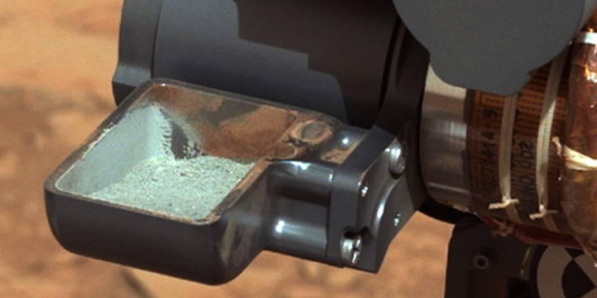 Curiosity obtiene su primera muestra de polvo marciano