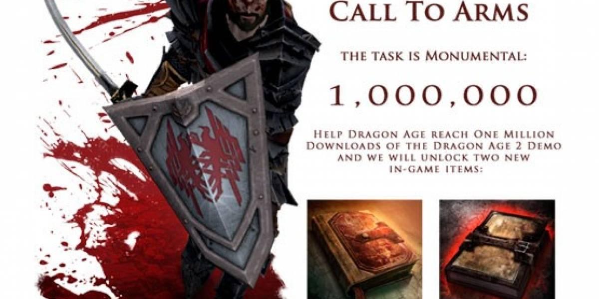 Descarga el demo de Dragon Age II un millón de veces y tendrás tu regalote
