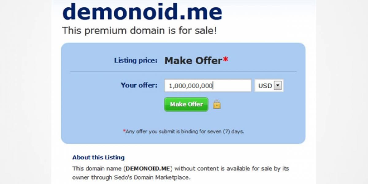 Dominios de Demonoid están a la venta