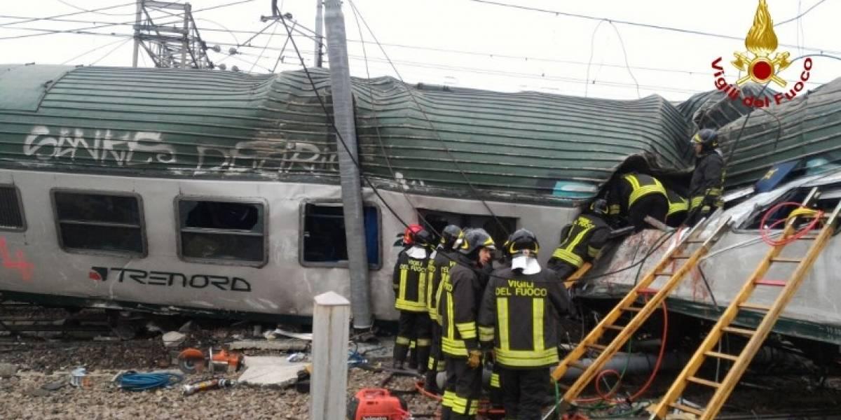 FOTOS. Al menos tres muertos por descarrilamiento de tren cerca de Milán