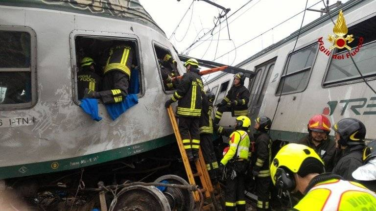 Descarrilamiento de tren en Milán