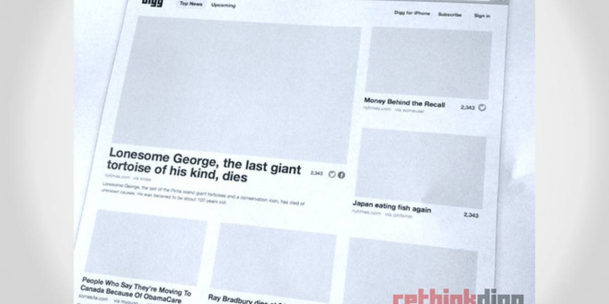Digg revela detalles de lo que será su nueva versión, que no tendrá comentarios
