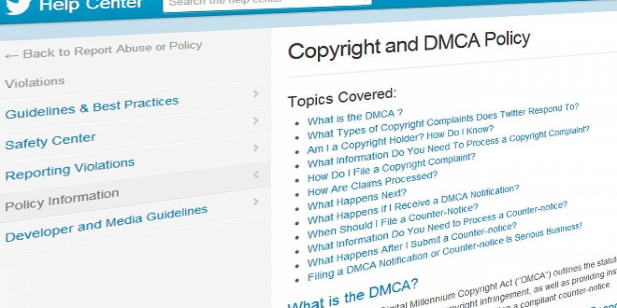 Twitter reemplaza con un aviso los tuiteos denunciados por copyright