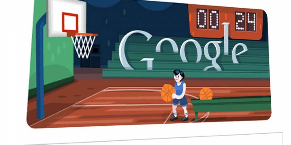 El reto del Doodle de hoy es de altura: Baloncesto a lo Londres2012