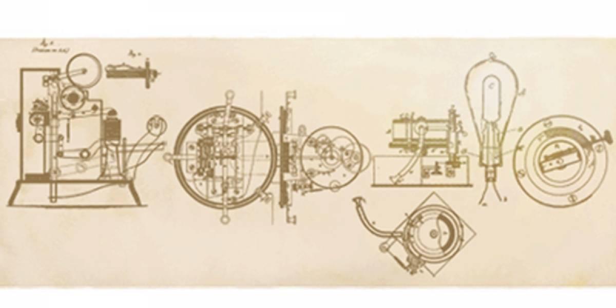 Los inventos de Edison iluminan el Doodle de Google