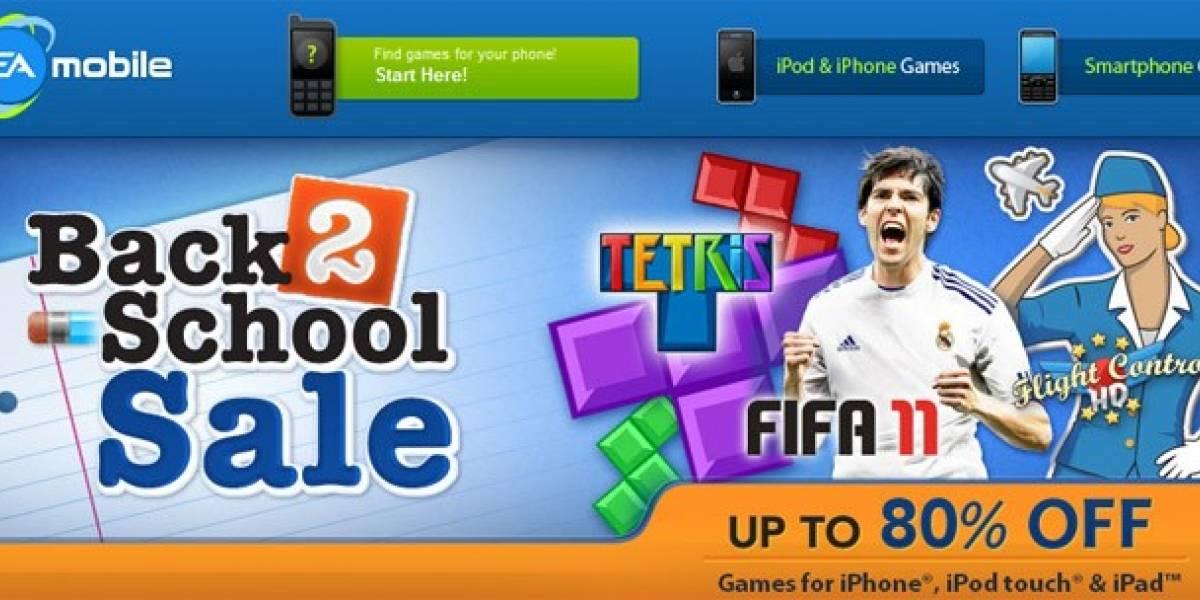 EA ofrece juegos para iOS con 80% de descuento