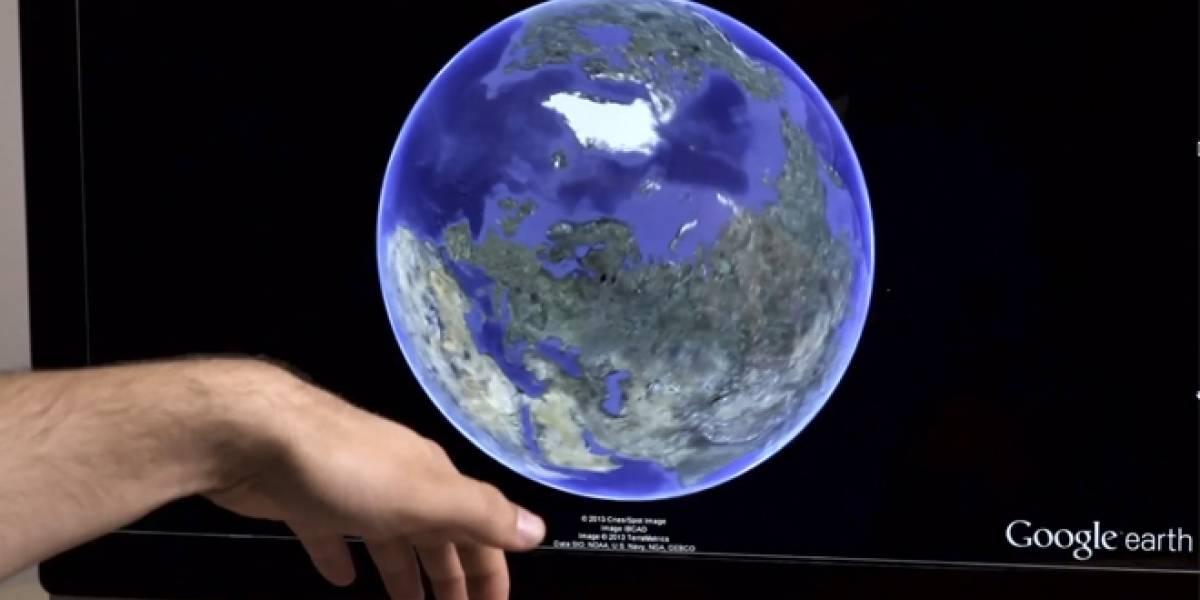 Google Earth ahora puede ser controlado a través de gestos con el Leap Motion