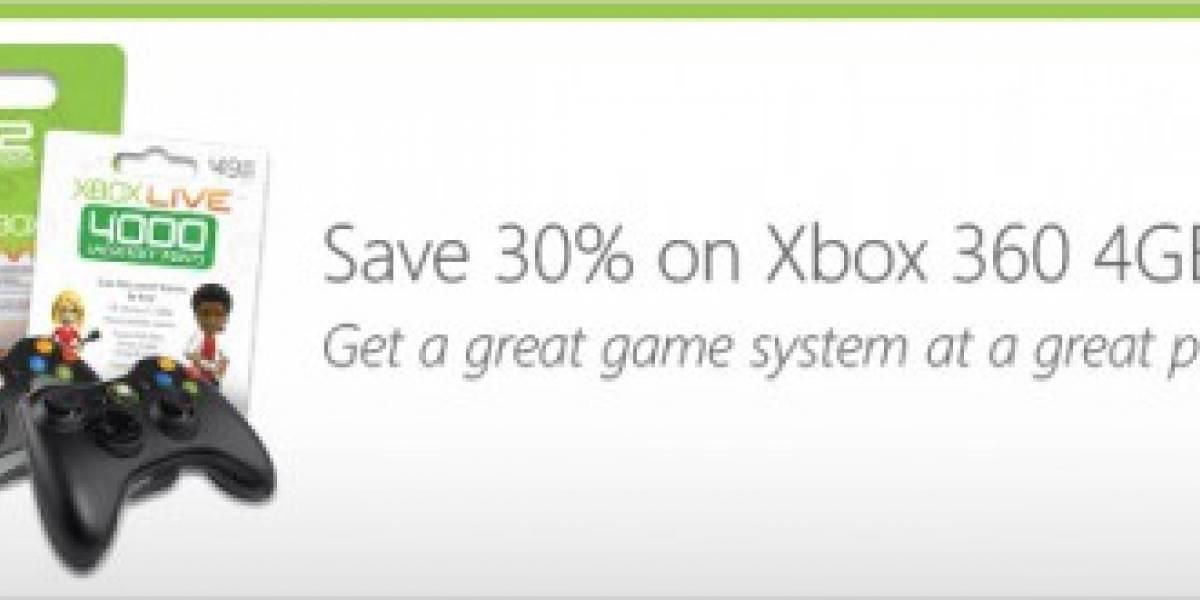 Microsoft lanza paquete XBOX 360 4GB a USD$100 menos
