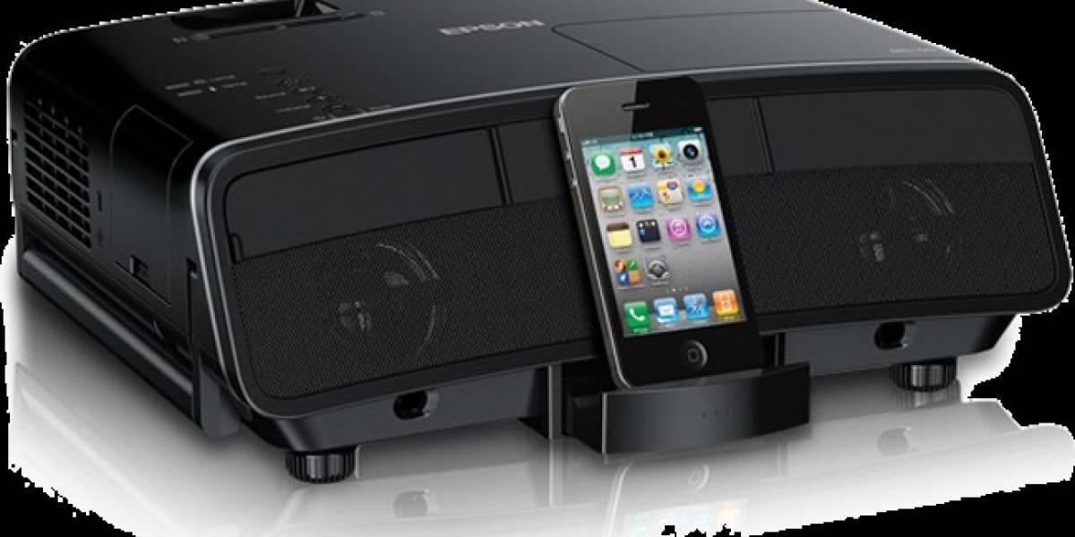 Visiona y escucha en la pared tu iPhone o iPad con este proyector HD de Epson