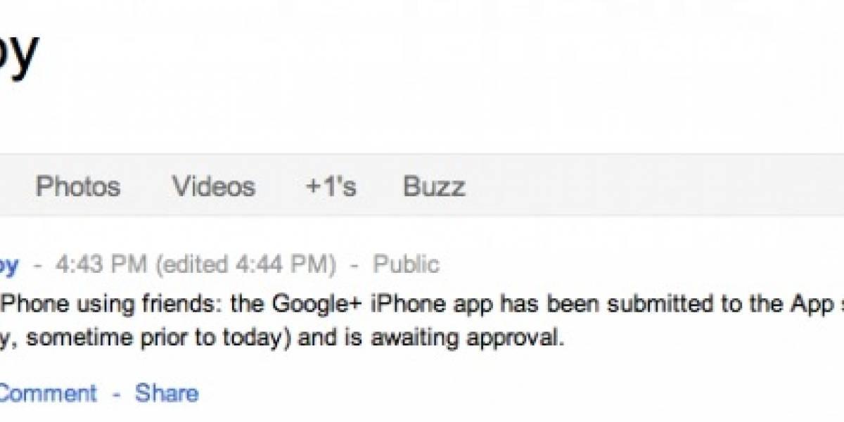 Aplicación de Google+ para iOS, en cualquier momento en la App Store