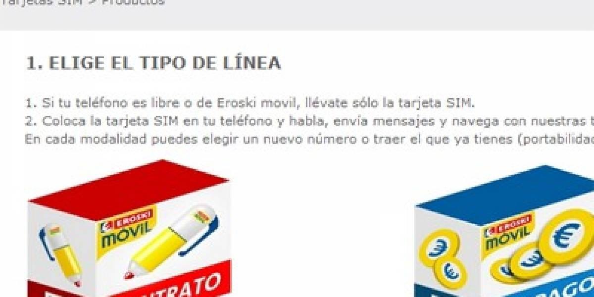 España: EROSKI Móvil ofrece novedades en su tienda en Internet