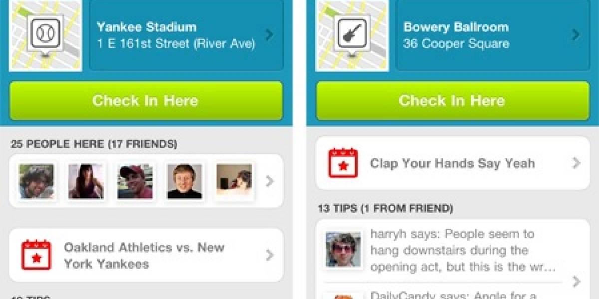 Foursquare agrega datos sobre eventos deportivos y de ocio (por ahora para iOS)