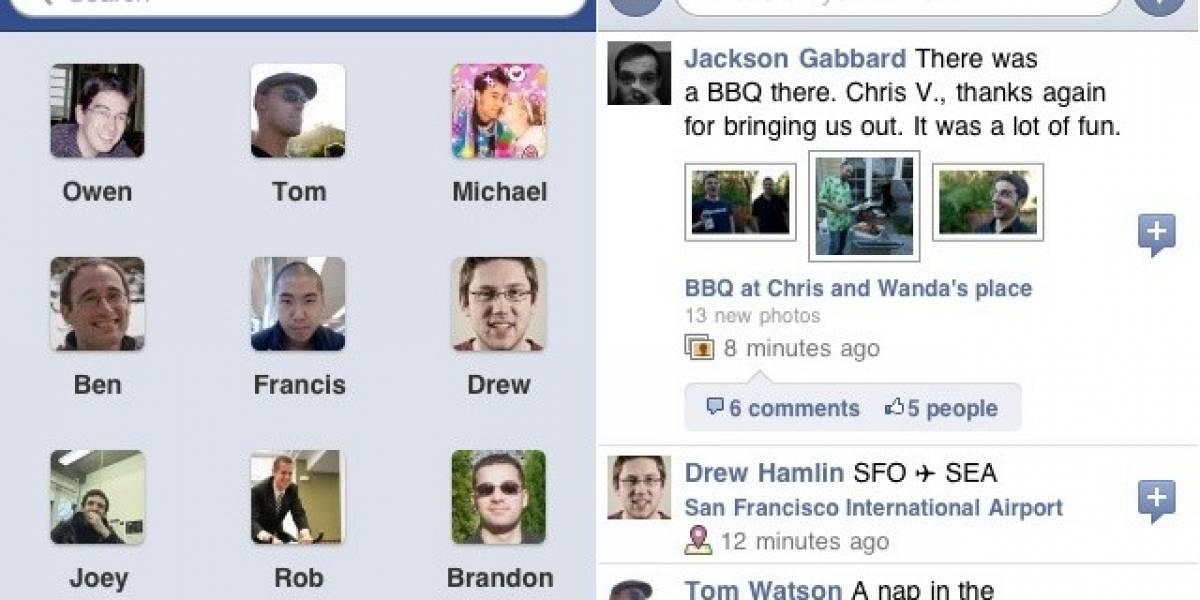 Nueva actualización de la app de Facebook para iOS