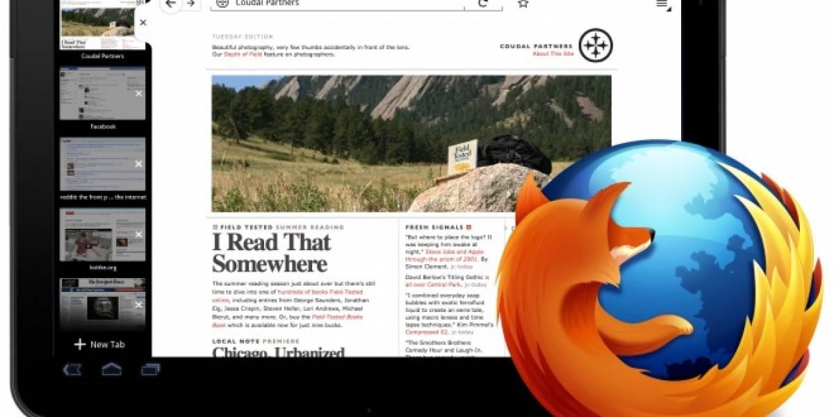 Mozilla está preparando Firefox para Android 3 en tablets y mostró un adelanto